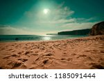 solitary beach on sunny day | Shutterstock . vector #1185091444