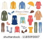 female fashion set. women's... | Shutterstock .eps vector #1185093007