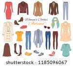 female fashion set. women's... | Shutterstock .eps vector #1185096067