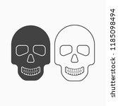 skull black icon isolated on... | Shutterstock .eps vector #1185098494
