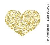 russian folk pattern. golden...