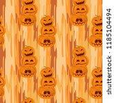 halloween pumpkin like snowman... | Shutterstock .eps vector #1185104494