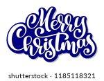 merry christmas vector text... | Shutterstock .eps vector #1185118321