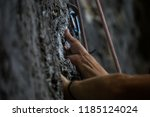 close up image of a rock... | Shutterstock . vector #1185124024