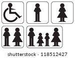 sign set   disabled  male and... | Shutterstock .eps vector #118512427