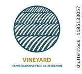 valley . vineyard and sunny... | Shutterstock .eps vector #1185133057