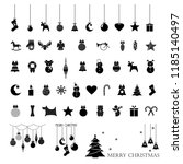 set of christmas icons ... | Shutterstock .eps vector #1185140497
