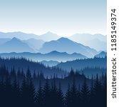 Vector Blue Misty Landscape...