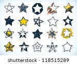 collection of sixteen handdrawn ... | Shutterstock .eps vector #118515289