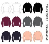 vector template of fashion... | Shutterstock .eps vector #1185158467