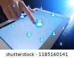 organisation structure chart ... | Shutterstock . vector #1185160141