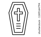 coffin thin line icon.... | Shutterstock .eps vector #1185164794