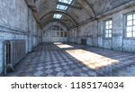 3d cg rendering of abandoned... | Shutterstock . vector #1185174034