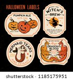 halloween bottle labels  ... | Shutterstock .eps vector #1185175951