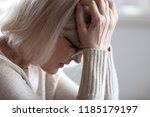 stressed sad tired middle aged... | Shutterstock . vector #1185179197