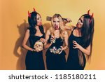 trick or treat  or death ... | Shutterstock . vector #1185180211