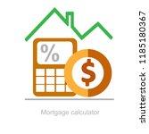mortgage calculator  down... | Shutterstock .eps vector #1185180367