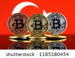 physical version of bitcoin ... | Shutterstock . vector #1185180454