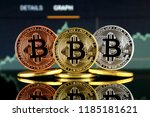 physical version of bitcoin ... | Shutterstock . vector #1185181621