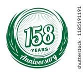 158 years anniversary.... | Shutterstock .eps vector #1185191191