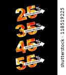 autumn discount sale  eps10 | Shutterstock .eps vector #118519225