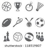 sport icons. vector set | Shutterstock .eps vector #118519807