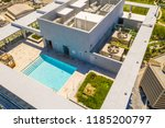 building rooftop swimming pool | Shutterstock . vector #1185200797
