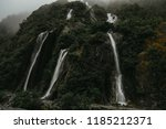 franz josef waterfall   Shutterstock . vector #1185212371