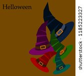 halloween hat witches night... | Shutterstock .eps vector #1185223327
