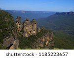 three 3 sisters wide view blue... | Shutterstock . vector #1185223657