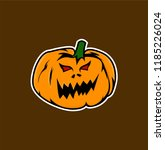 red eyes pumkin vector. gaming... | Shutterstock .eps vector #1185226024