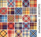 big set of seamless tartan... | Shutterstock .eps vector #118522951
