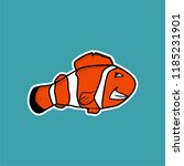 angry clown fish cartoon | Shutterstock .eps vector #1185231901