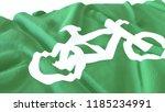 3d render  realistic wavy flag... | Shutterstock . vector #1185234991