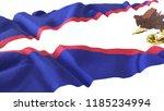 3d render  realistic wavy flag... | Shutterstock . vector #1185234994