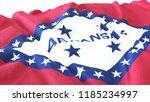 3d render  realistic wavy flag... | Shutterstock . vector #1185234997