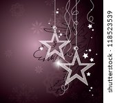 christmas background. | Shutterstock .eps vector #118523539