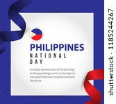philippines national day vector ... | Shutterstock .eps vector #1185244267
