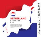 netherlands national day vector ... | Shutterstock .eps vector #1185244297