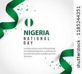 nigeria national day vector... | Shutterstock .eps vector #1185244351