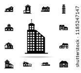 hotel building  icon. house... | Shutterstock . vector #1185247147