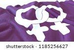3d render  realistic wavy flag... | Shutterstock . vector #1185256627
