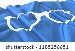 3d render  realistic wavy flag... | Shutterstock . vector #1185256651