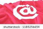 3d render  realistic wavy flag... | Shutterstock . vector #1185256654