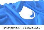 3d render  realistic wavy flag... | Shutterstock . vector #1185256657