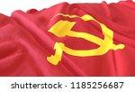 3d render  realistic wavy flag... | Shutterstock . vector #1185256687
