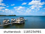 boat dock with raised pontoons... | Shutterstock . vector #1185256981