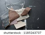 finishing a wood project with... | Shutterstock . vector #1185263737