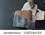 multiple pieces of different... | Shutterstock . vector #1185264154