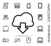 unloading from the cloud icon.... | Shutterstock . vector #1185272494